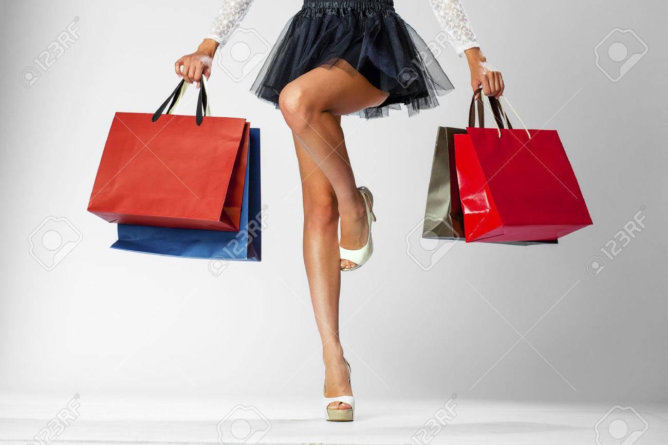 Sexy girl shopping