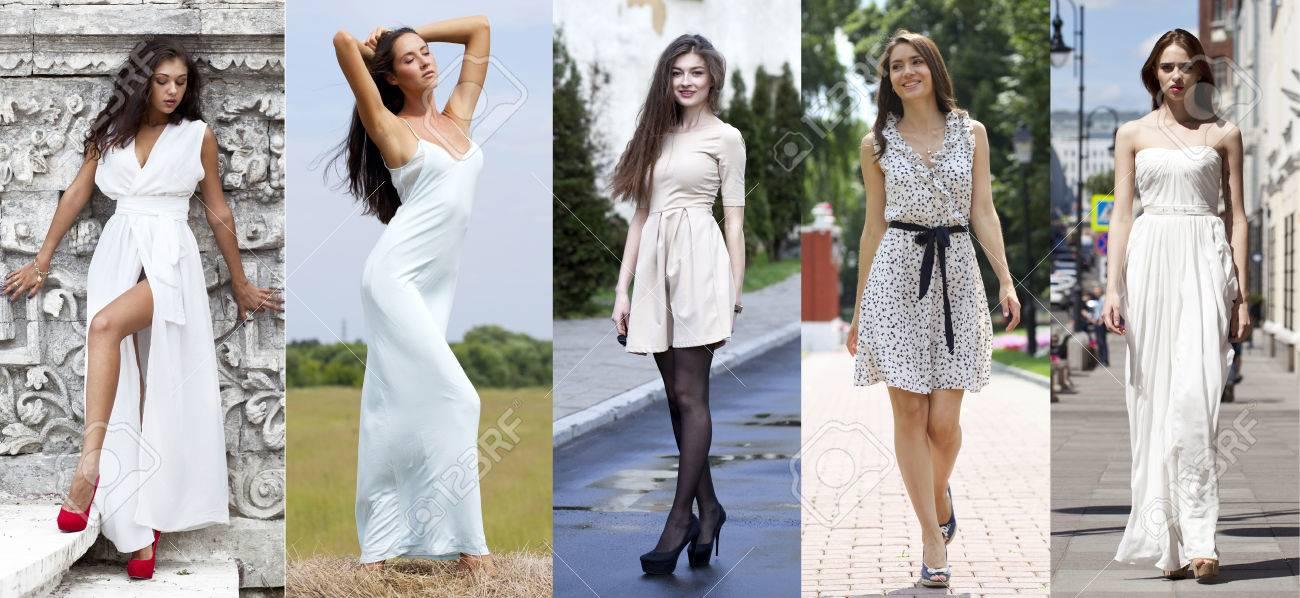 Collage cinco modelos sexy en vestido blanco street fashion collage cinco modelos sexy en vestido blanco street fashion hermosas mujeres jvenes foto de altavistaventures Image collections