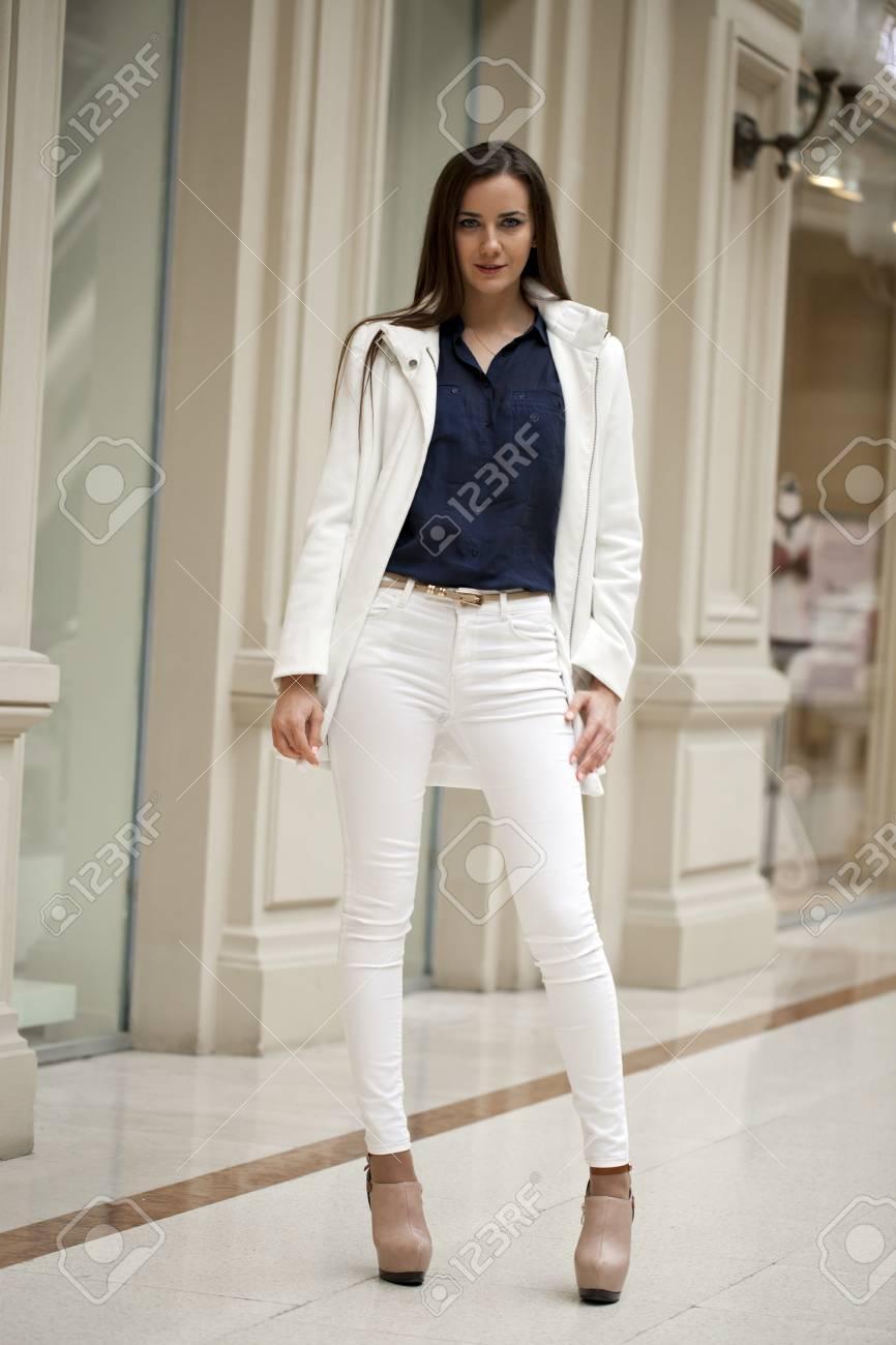 white pants and black blazer