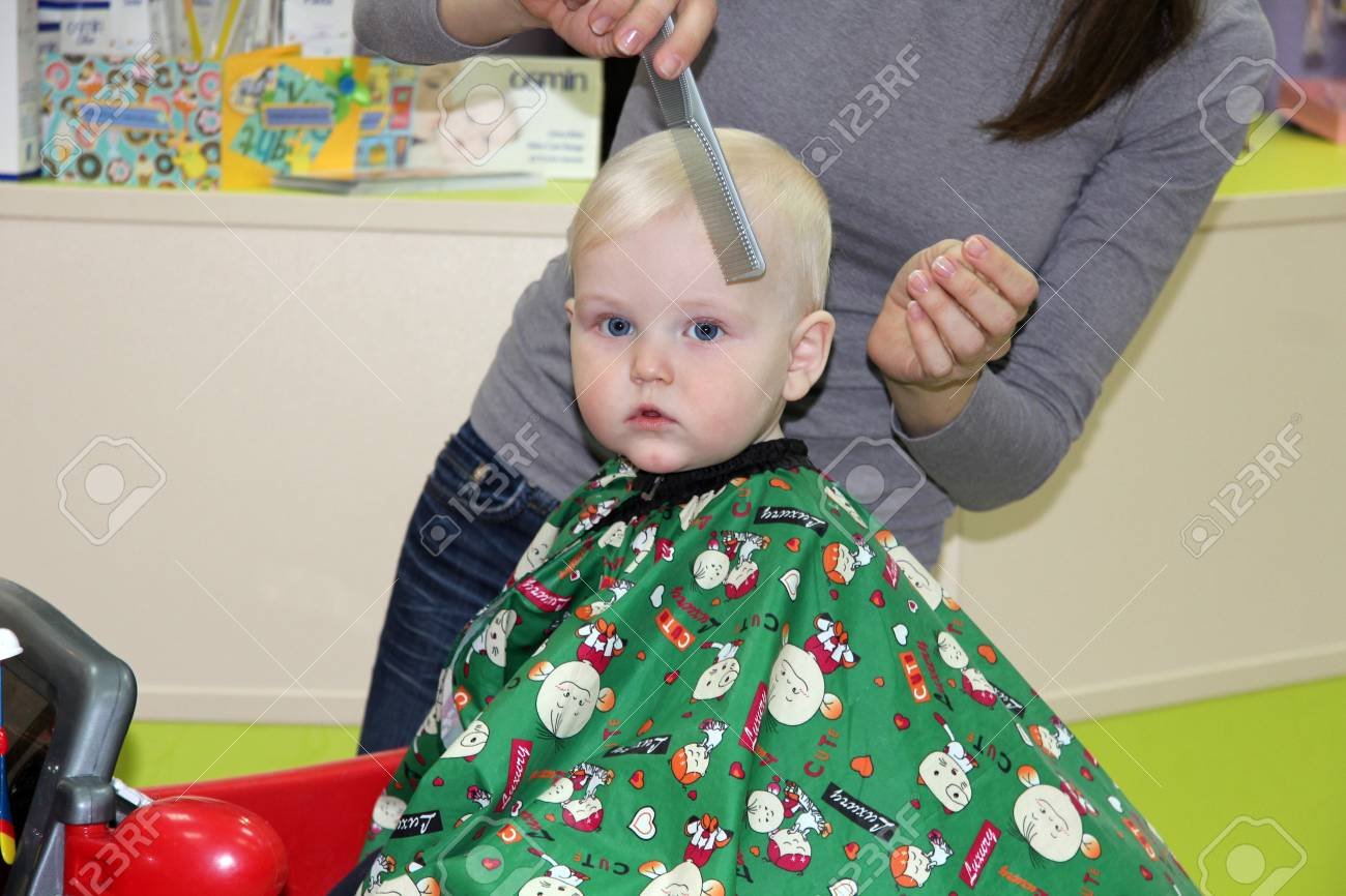Baby Boy In The Barber Shop Stock Photo Picture And Royalty Free Image Image 55132243
