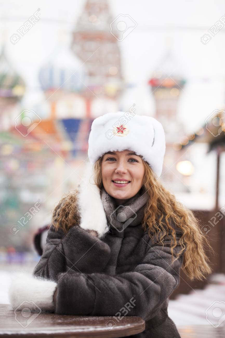 Russian Beauty Portrait Of A Young Beautiful Girl In A White
