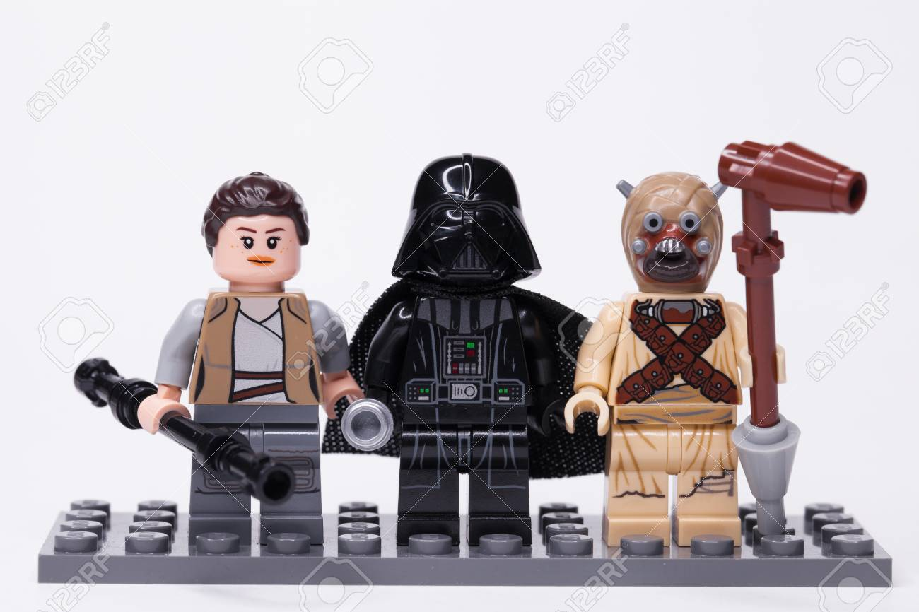 - RUSSIA, May 16, 2018. Constructor Lego Star Wars. Darth Vader
