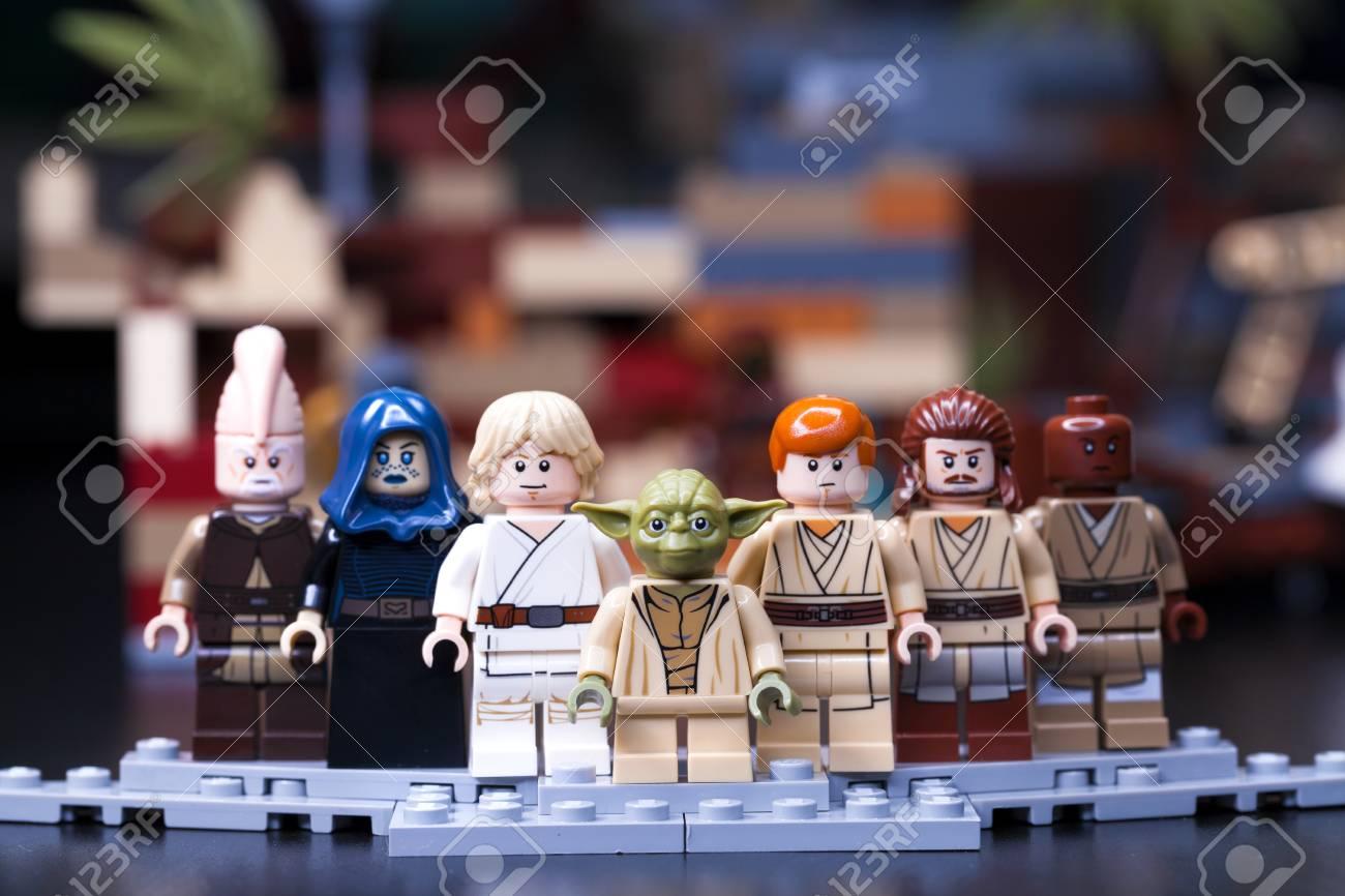 2f637aad8e1d RUSSIA, May 16, 2018. Constructor Lego Star Wars. Jedi, Members ...