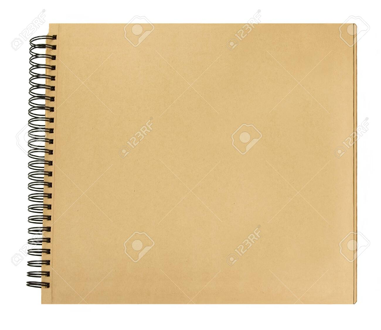 Front cover book recycled paper pages spiral binding - 121766310
