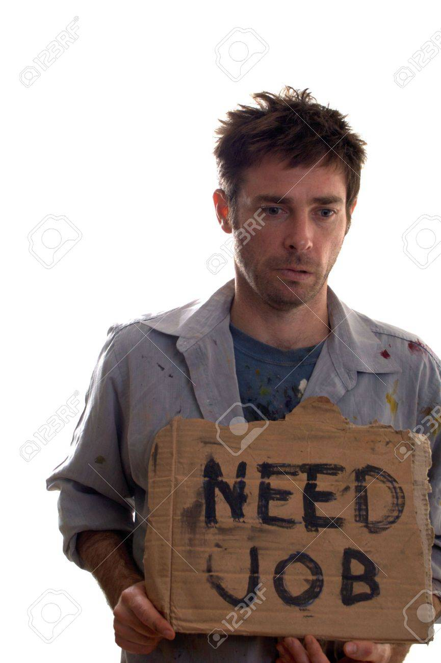 Untidy and dirty worker in desperate need of employment Stock Photo - 5140568