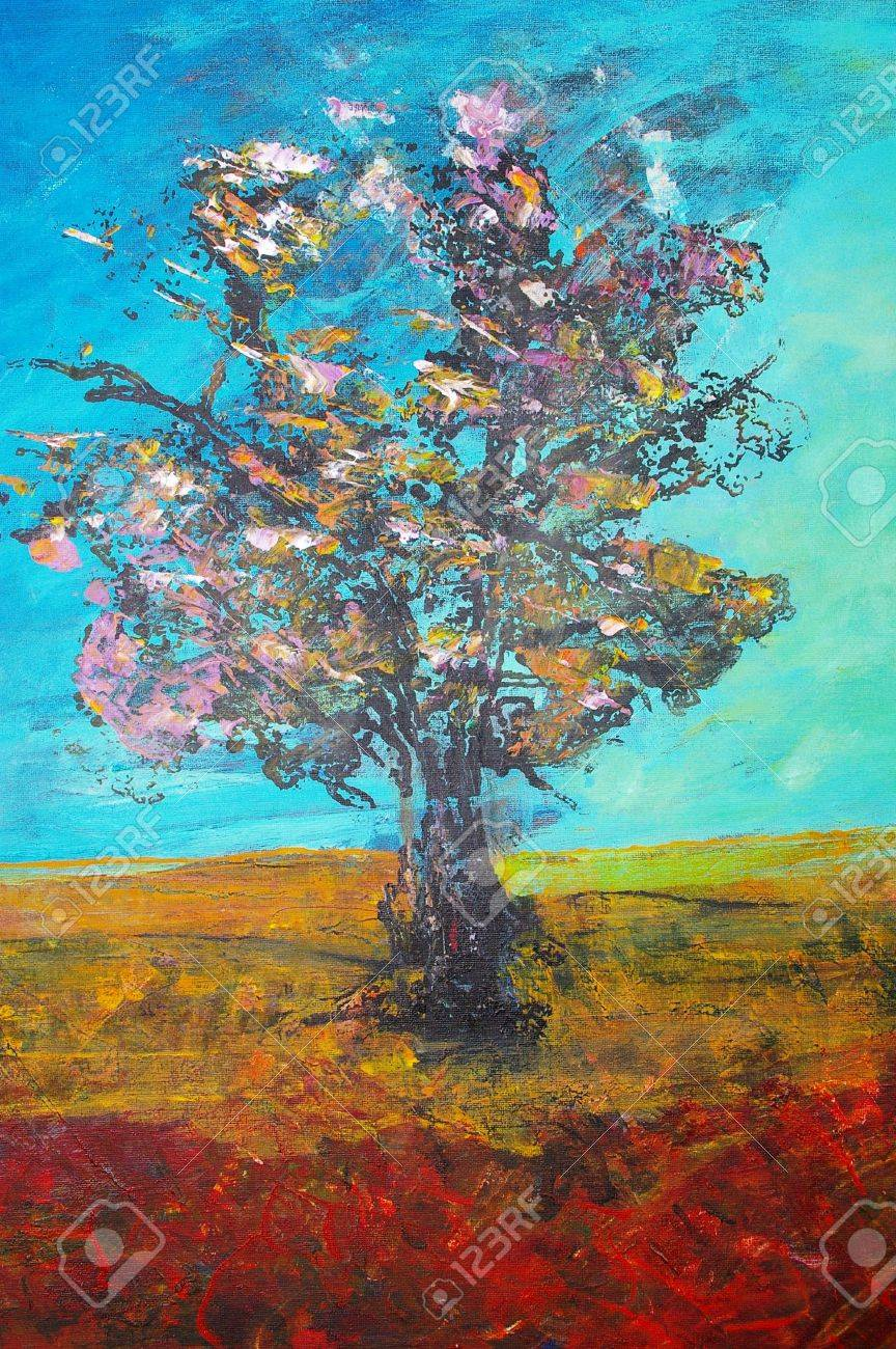 original oil painting on canvas for giclee, abstract  background or concept Stock Photo - 6695168