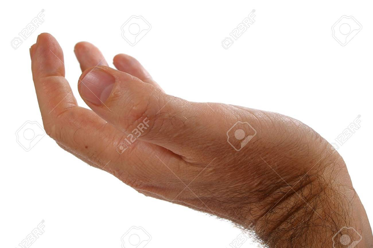 Isolated over white human male  hand concept Stock Photo - 7103097