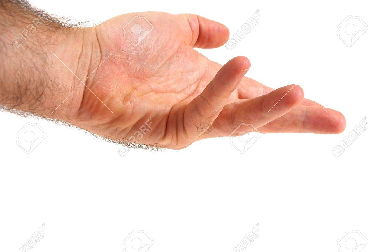 Isolated over white human male  hand concept Stock Photo - 7103046