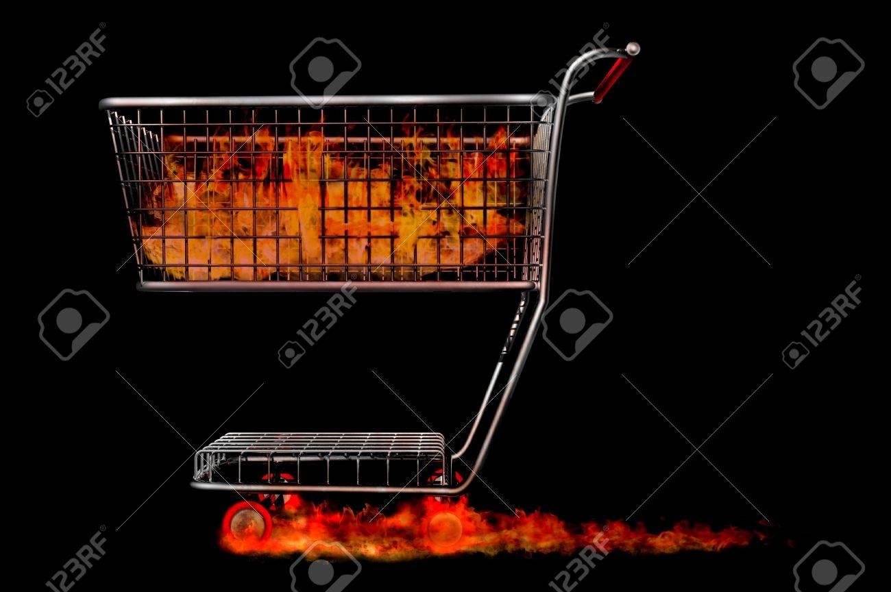 trolley render fire sale liquidation hot bargins Stock Photo - 12996340