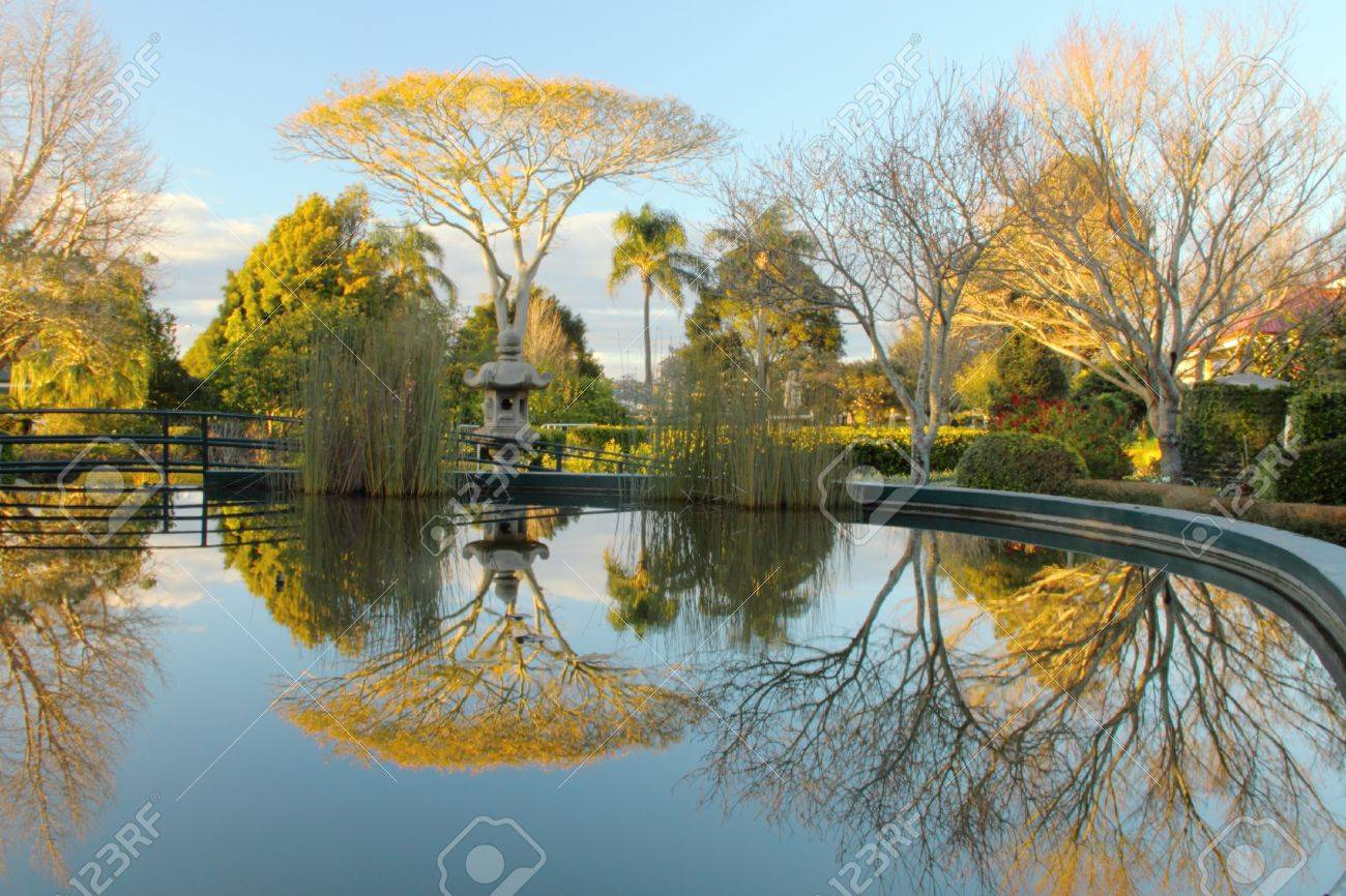 Laurel Bank Park Vison Imapred Scented Garden Water Feature Toowoomba Stock  Photo   31568605