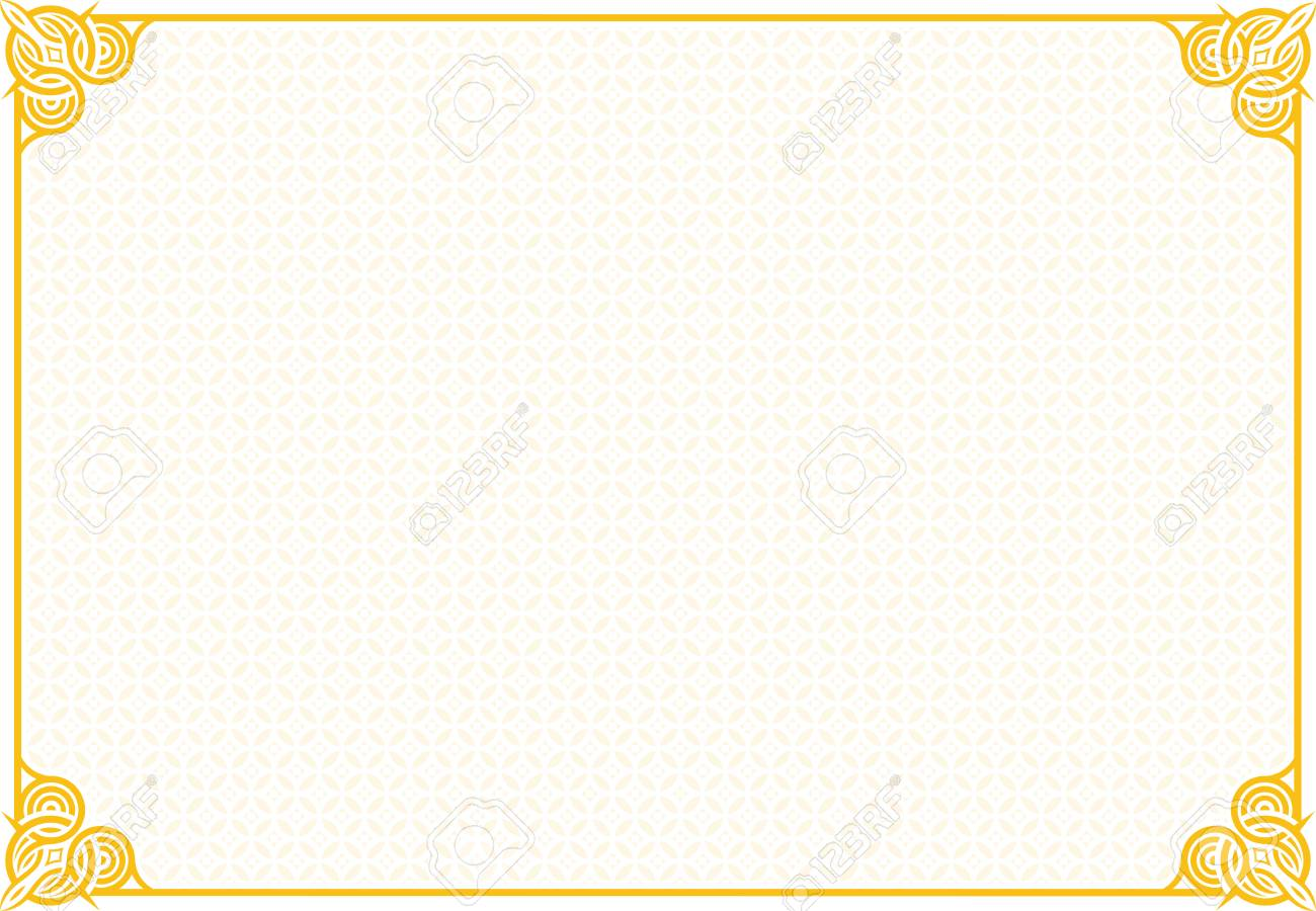 Blank Certificate Template Royalty Free Cliparts Vectors And