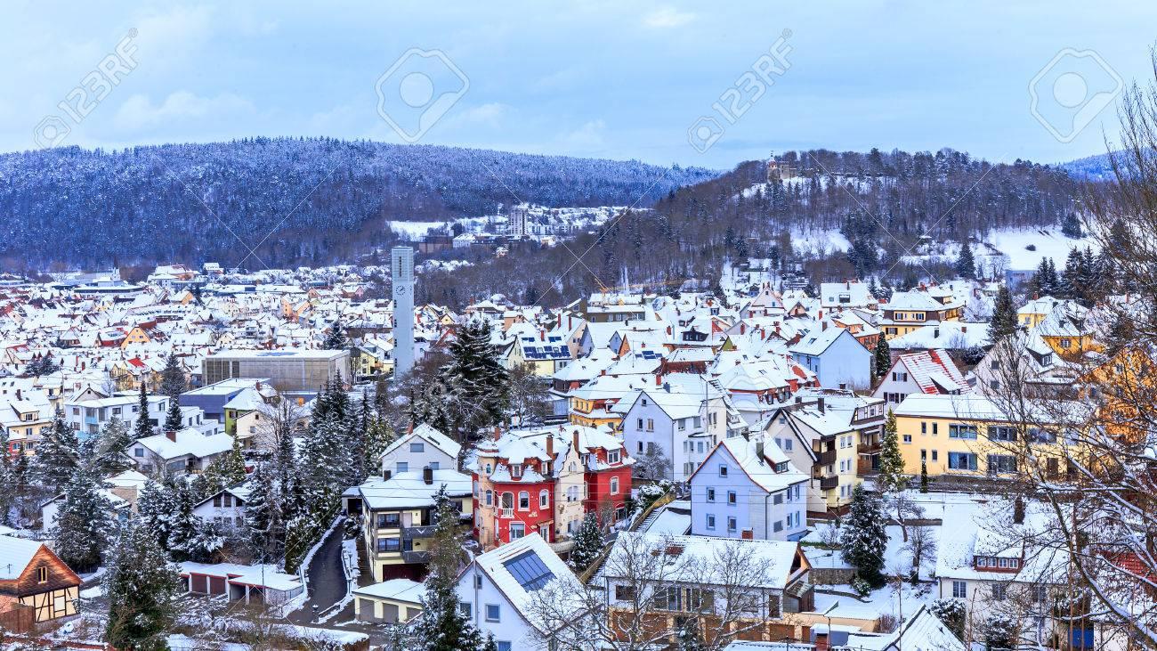 Tuttlingen Winter Panorama in Baden Wurttemberg, Germany
