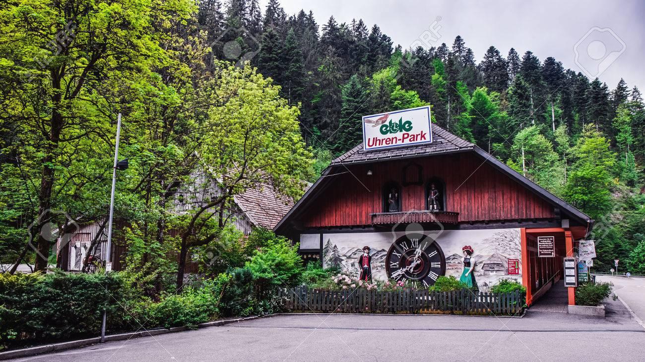 triberg germany may 19 2015 biggest cuckoo clock in the world at triberg stock photo