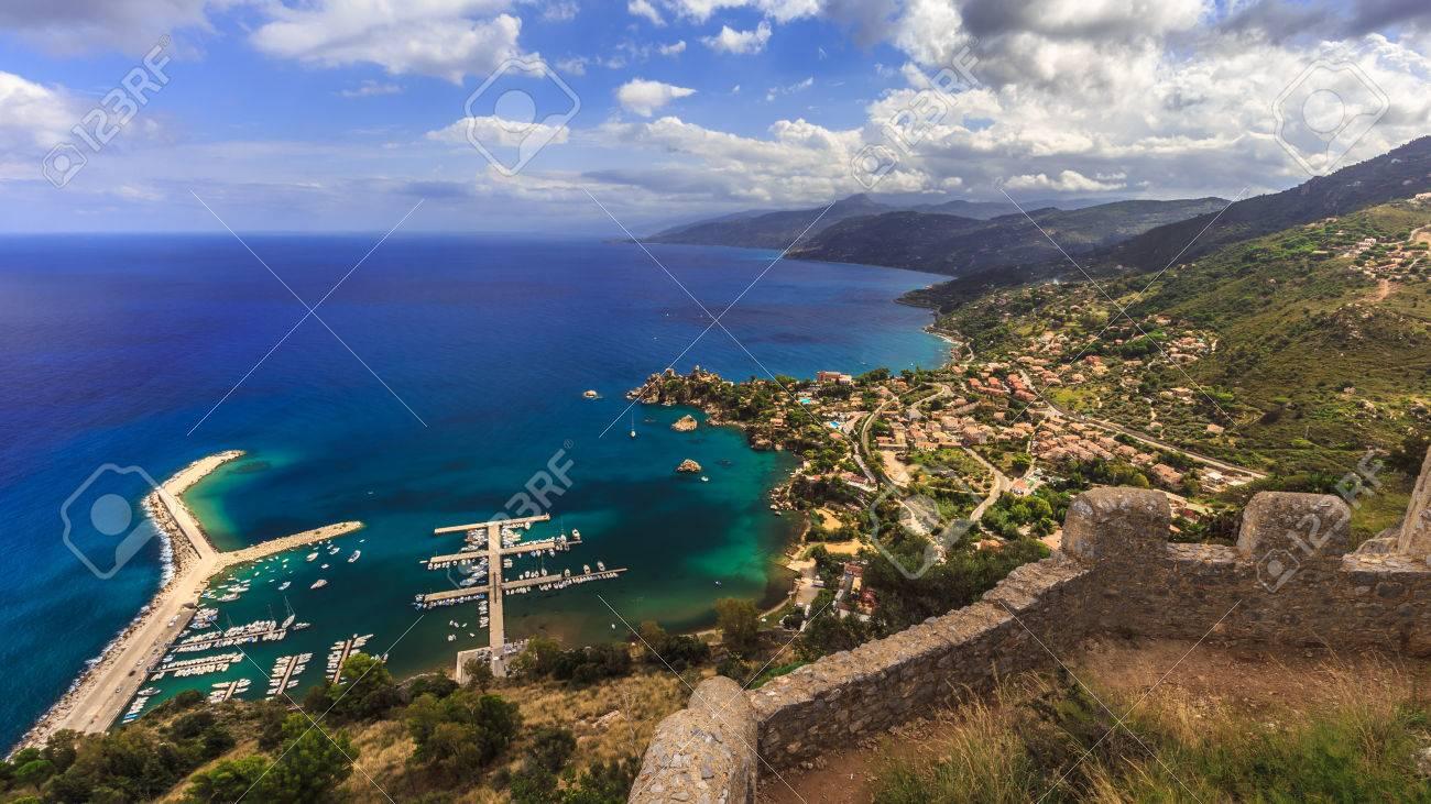Immagini Stock Fantastico Paesaggio Al Italien Siciliana Costiera