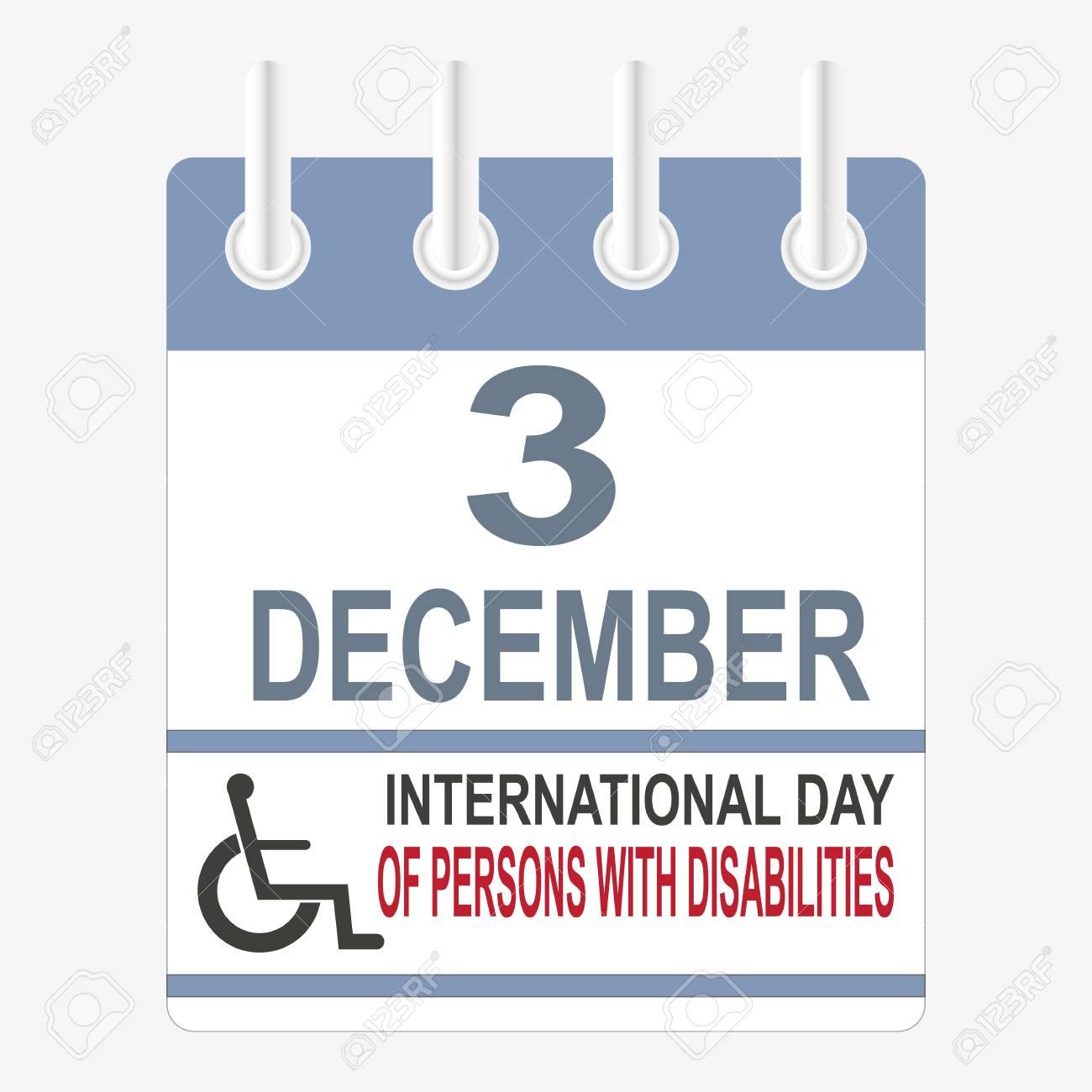 Calendario Internazionale.Giornata Internazionale Delle Persone Con Disabilita 3 Dicembre Calendario