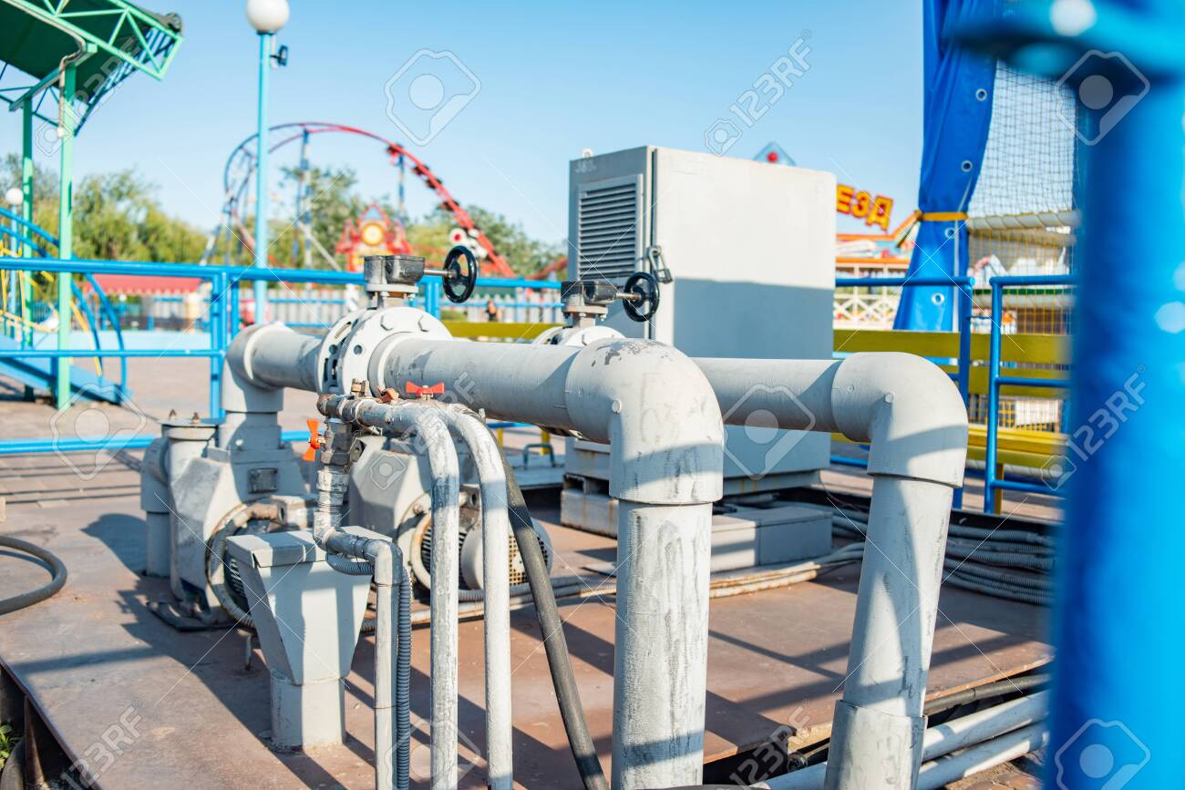 Pipeline and pump station for pressurized water. - 137796321