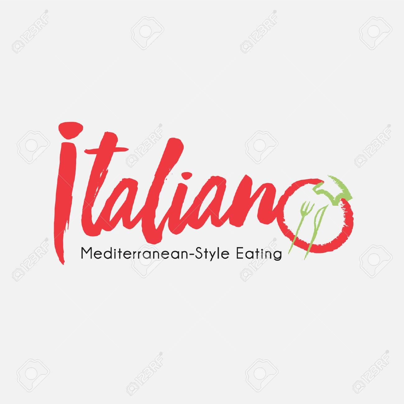 Italian Restaurant Cuisine Lifestyle Logo Ilustracion Tomate Basil Red Green Ilustraciones Vectoriales Clip Art Vectorizado Libre De Derechos Image 86735941