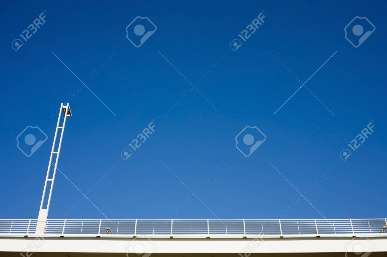 Street lantern and barrier with a modern design. Stock Photo - 17617940