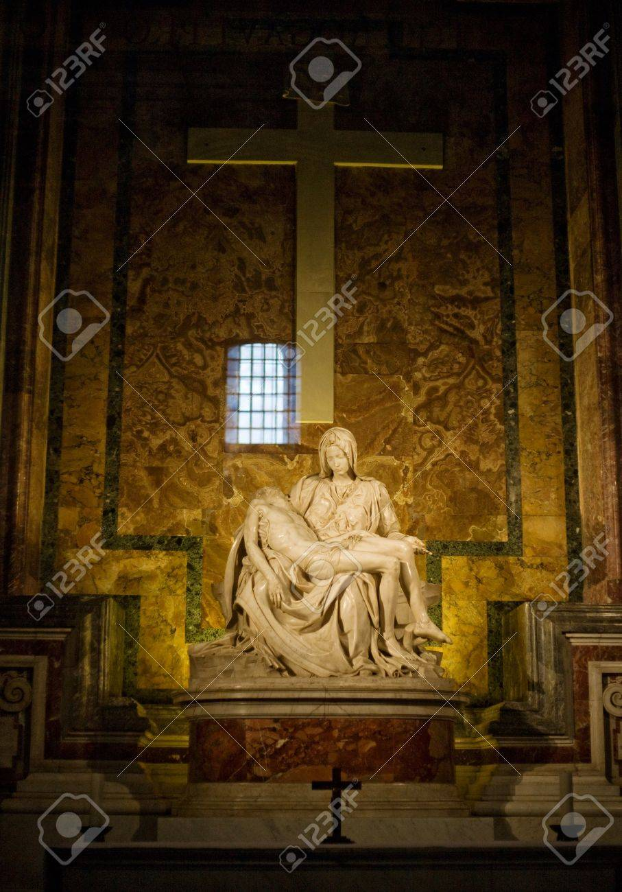 Michelangelo's Pieta in St. Peter's Basilica in Rome. Stock Photo - 17617954