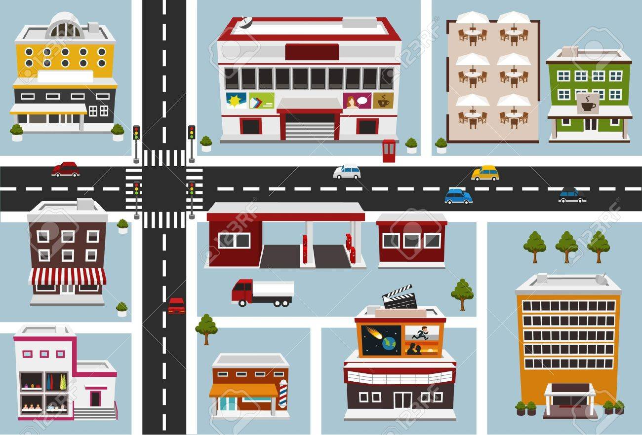 map of commercial area Stock Vector - 13264473