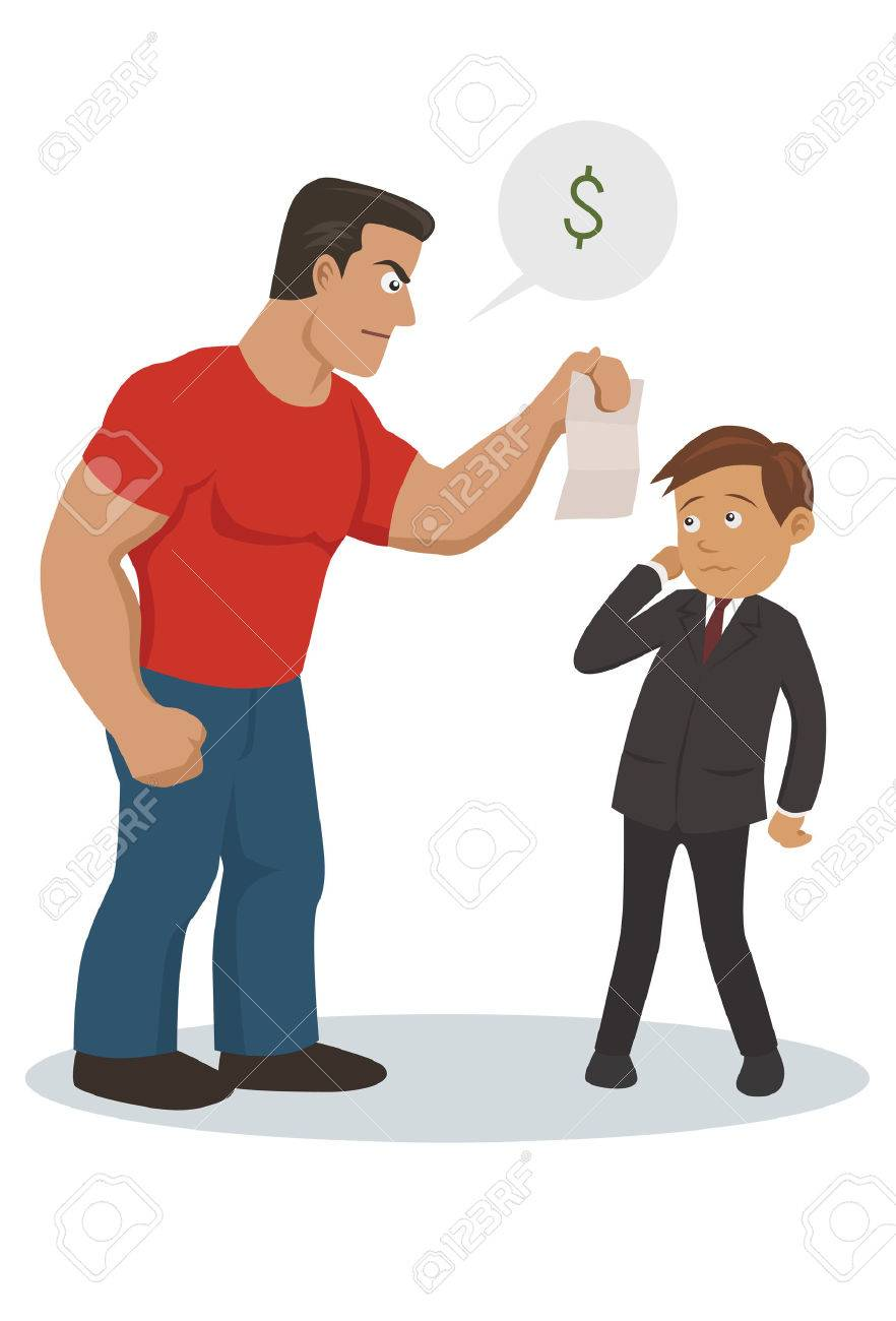 bill collector in action - 34256467