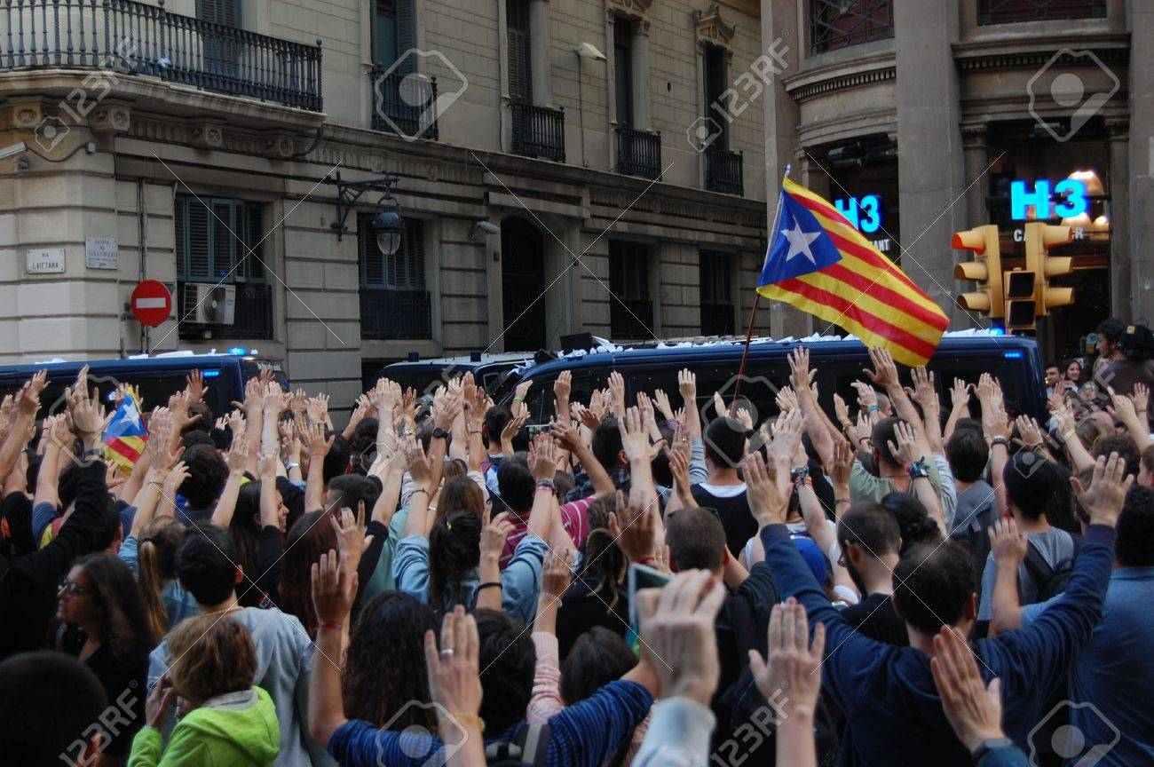 protests in Catalonia. Referendum for indipendence. Barcelona 2017 - 86777427