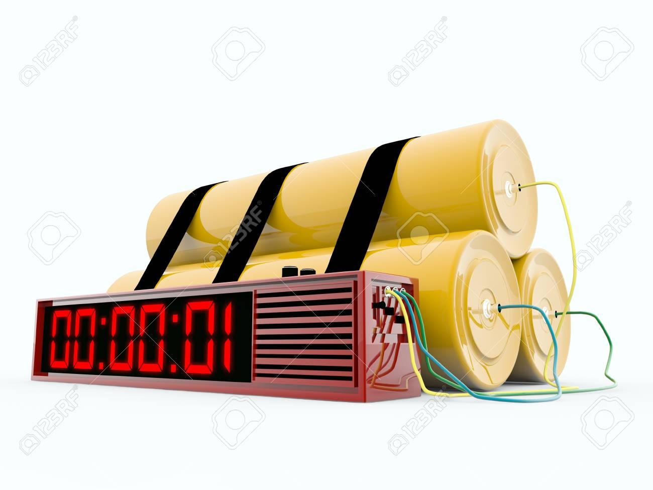 bomb isolated on white background Stock Photo - 9056320