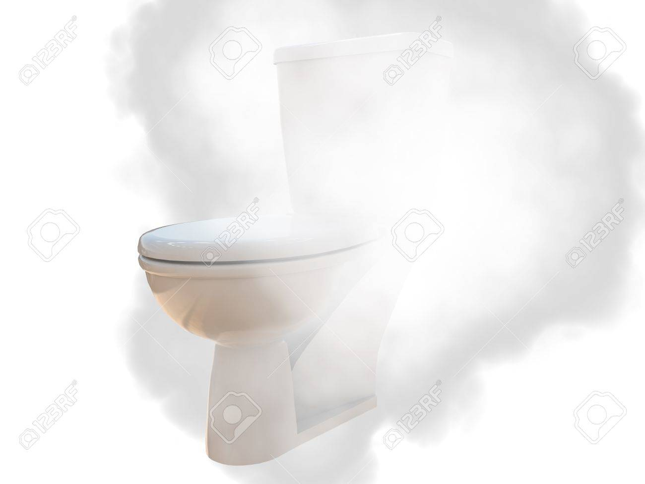 ceramic wc on fire isolated on white background Stock Photo - 11933506
