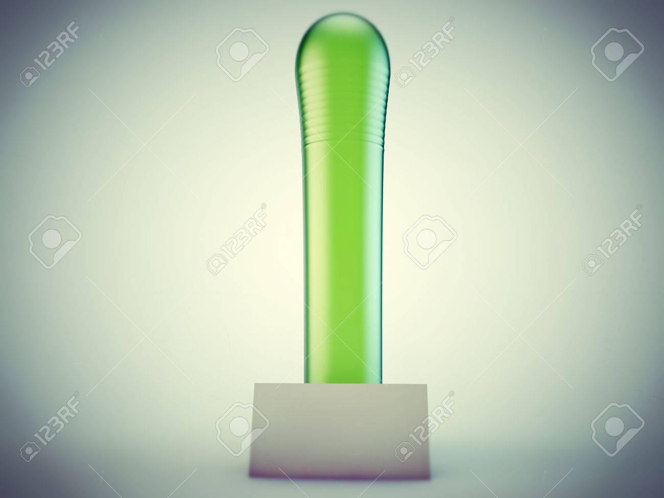 green dildo isolated on white background Stock Photo - 13372638
