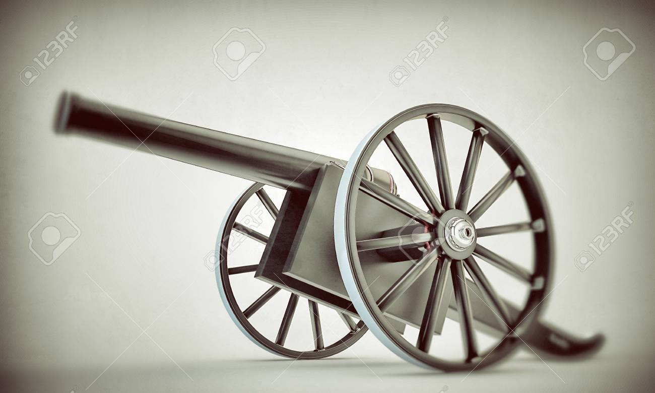 cannon il old picture isolated on white background Stock Photo - 13879932
