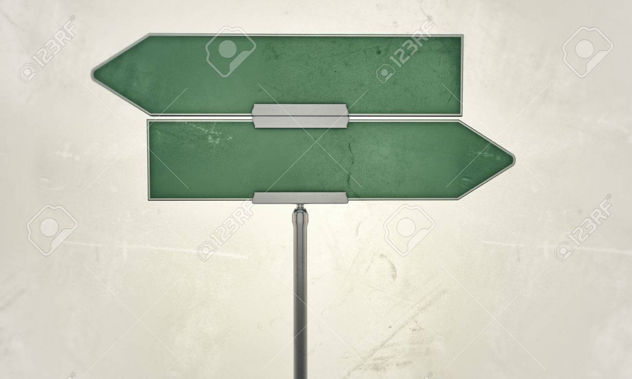 street sign isolated on white background - 14374183