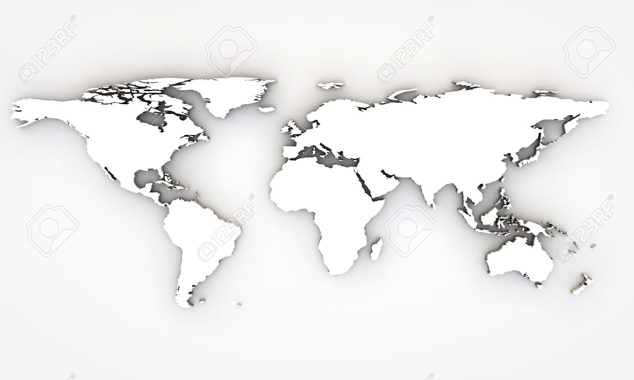 3d world map with extrude continents stock photo picture and 3d world map with extrude continents stock photo 14417524 gumiabroncs Images