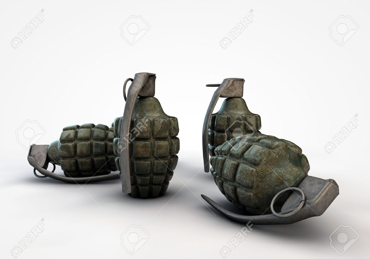 grenades isolated on white background - 14722613