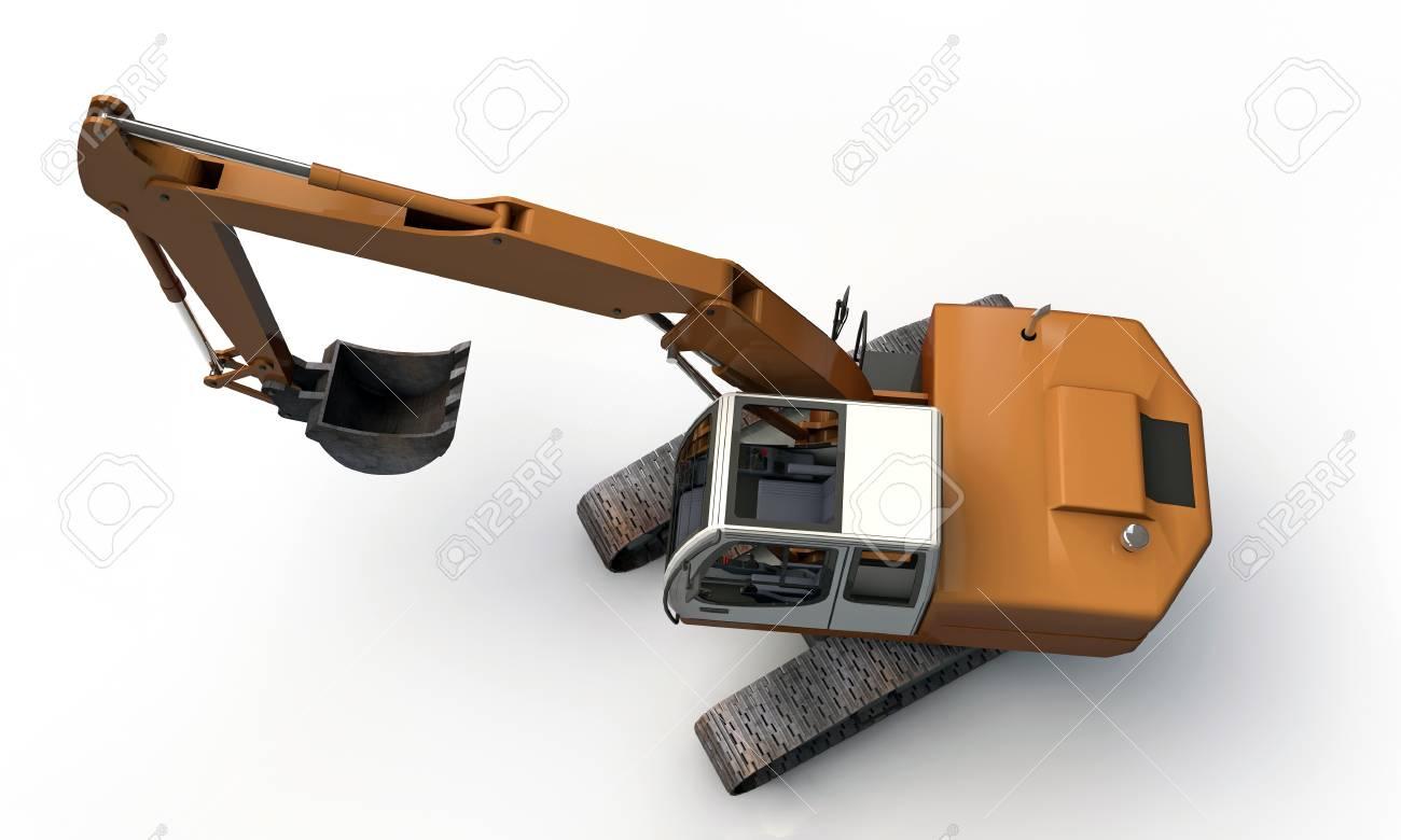 excavator isolated on white background Stock Photo - 18811506