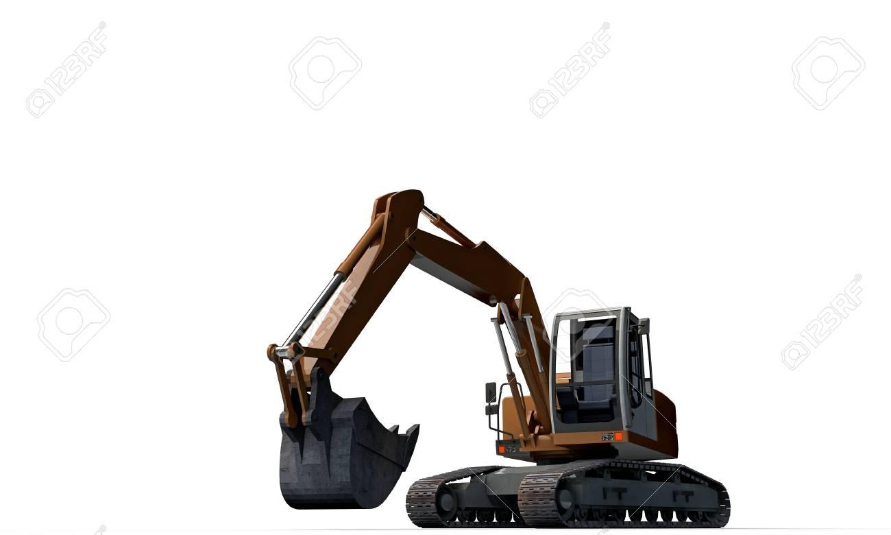 excavator isolated on white background Stock Photo - 18811474