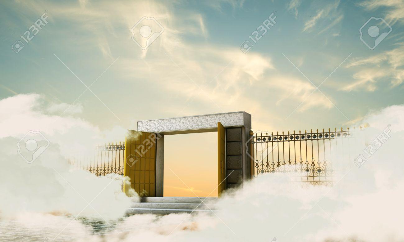 天国の門のイラスト の写真素材画像素材 Image 25240286