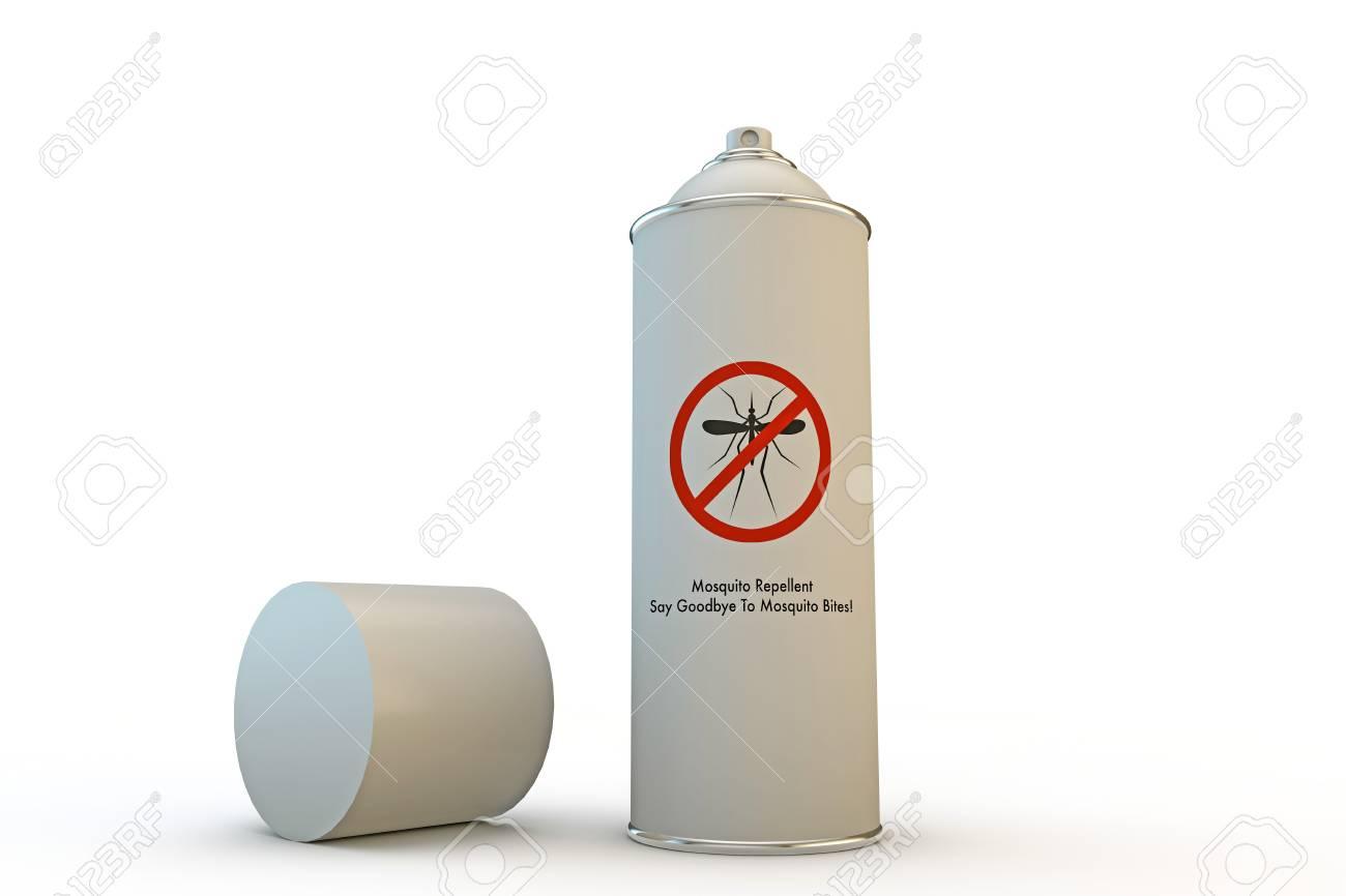 Immagini Stock Zanzara Repellente Spray Può Isolato Su Sfondo