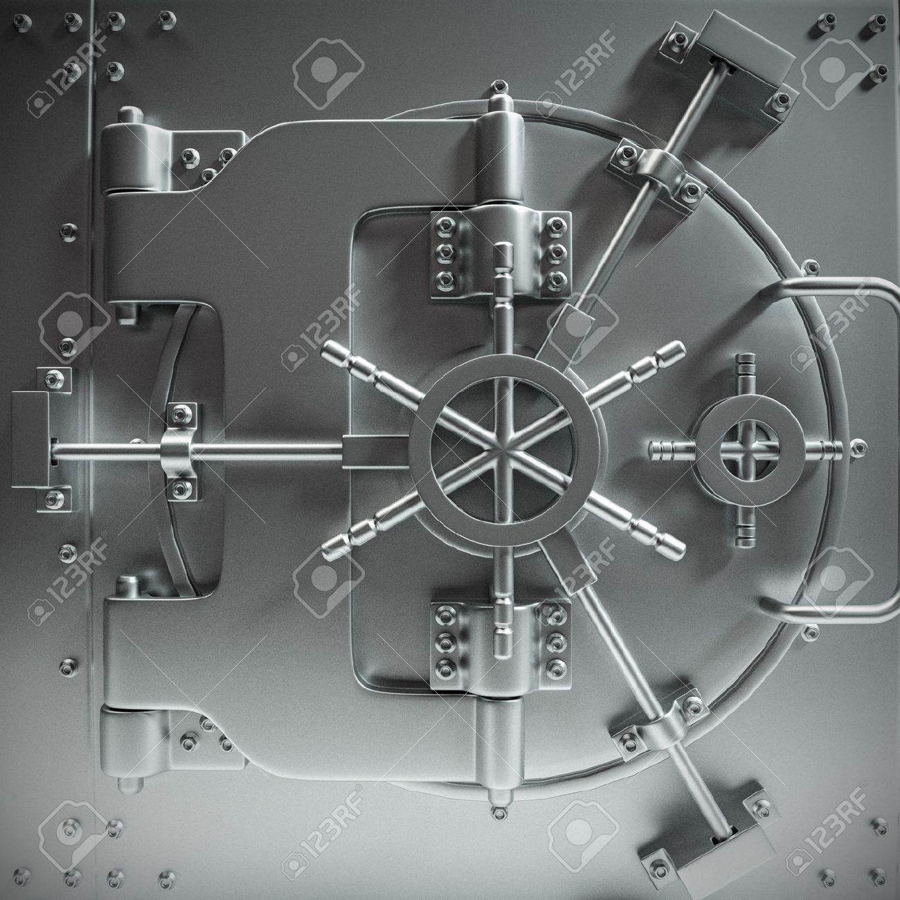 massive bank vault door closed Stock Photo - 44896310 & Massive Bank Vault Door Closed Stock Photo Picture And Royalty ...
