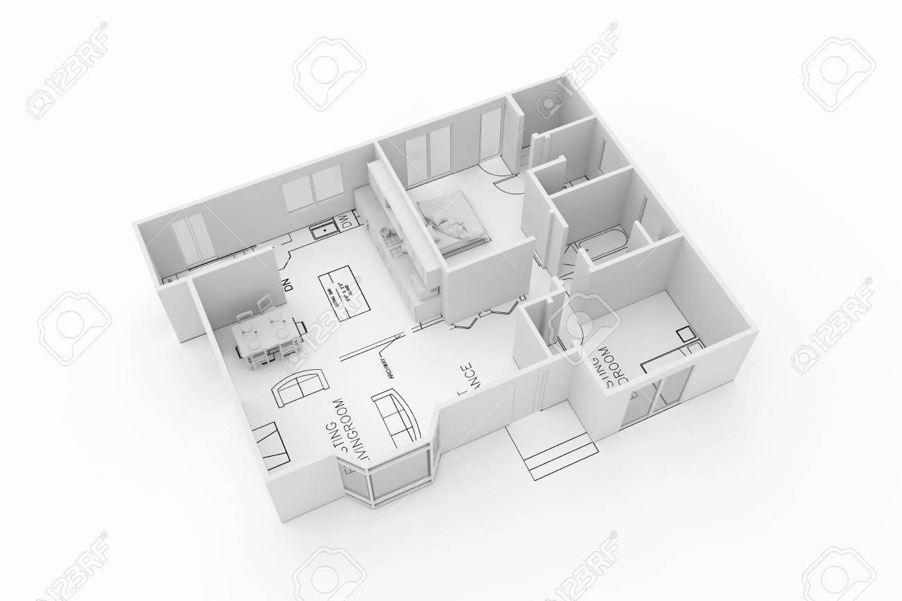 Plan D Une Maison D Habitation D Architecture Isole Sur Fond Blanc Banque D Images Et Photos Libres De Droits Image 52037472