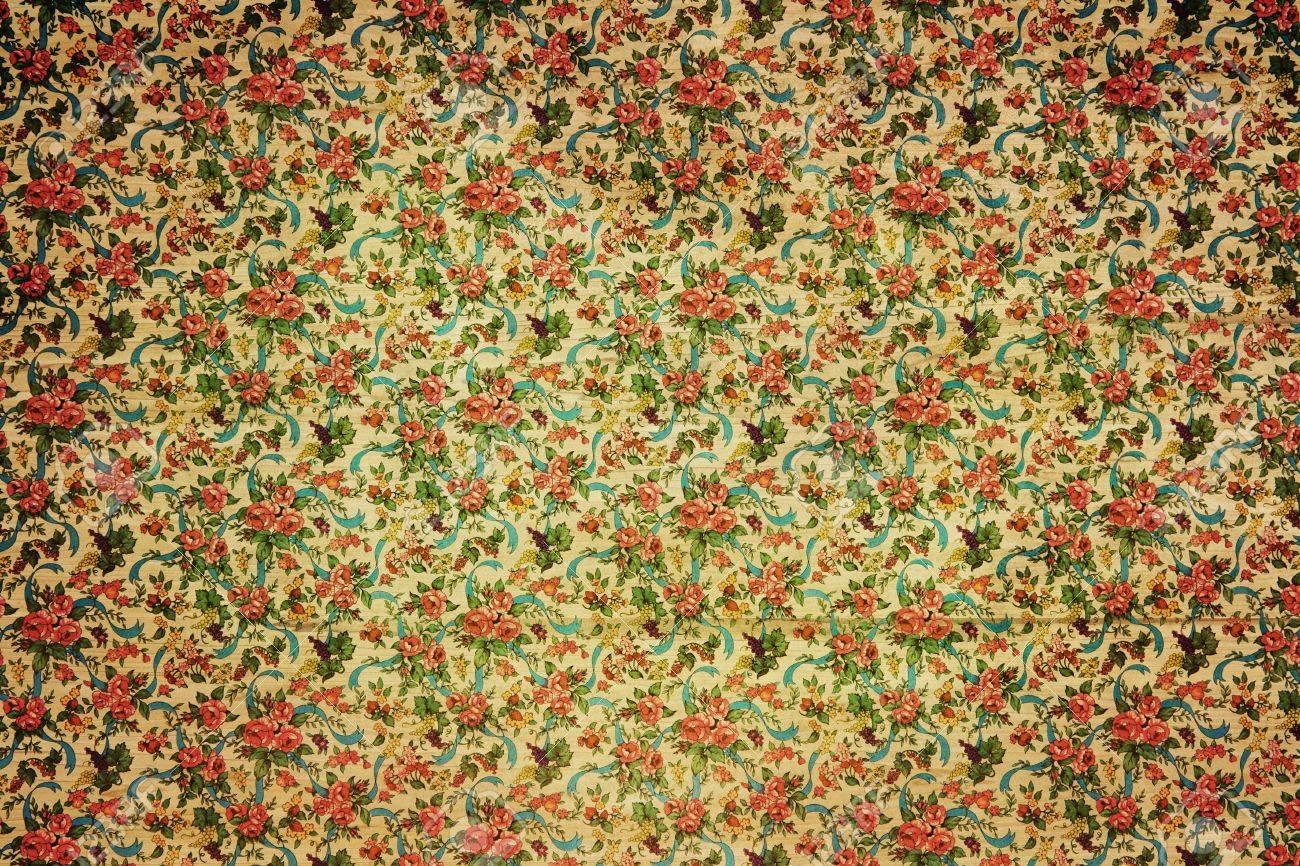 Ges De Fond De Papier Peint Vintage Avec Des Fleurs Et Un Motif De