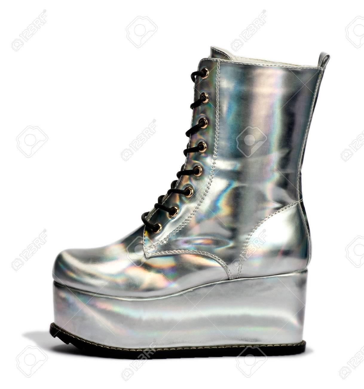 9a1a35c8ffb5 Close Up Elegant Silver Alien High Cut Shoes