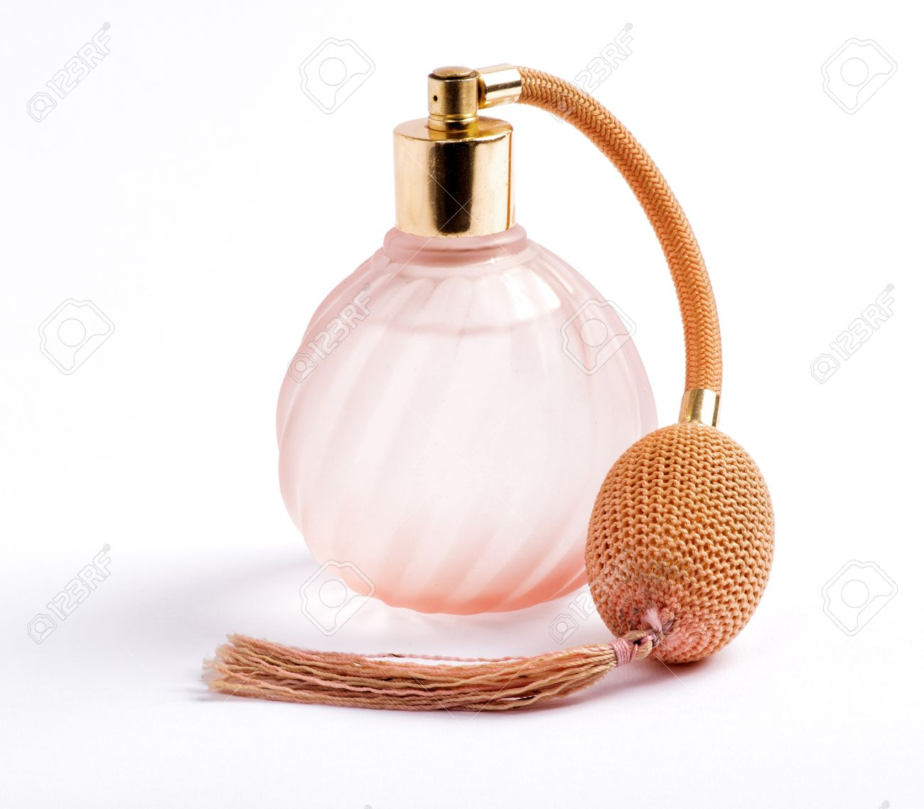 classic perfume bottle with an atomiser pump for spraying the