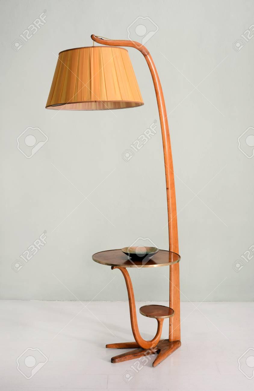 Wonderbaar Still Life Of Retro Floor Lamp With Hanging Shade And Integrated GJ-57