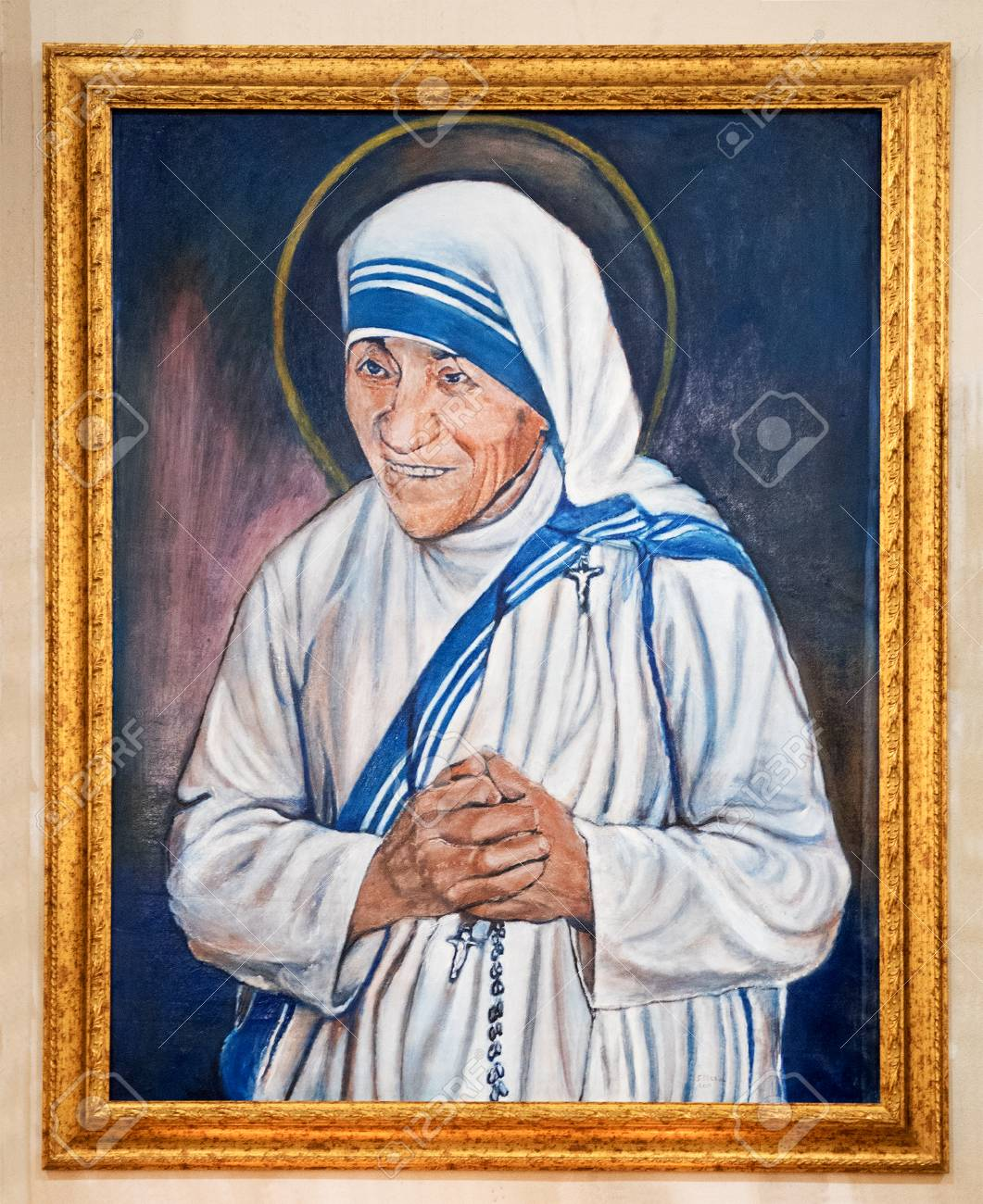 Portrait Of Madre Teresa Di Calcutta Mother Teresa Or Saint Stock