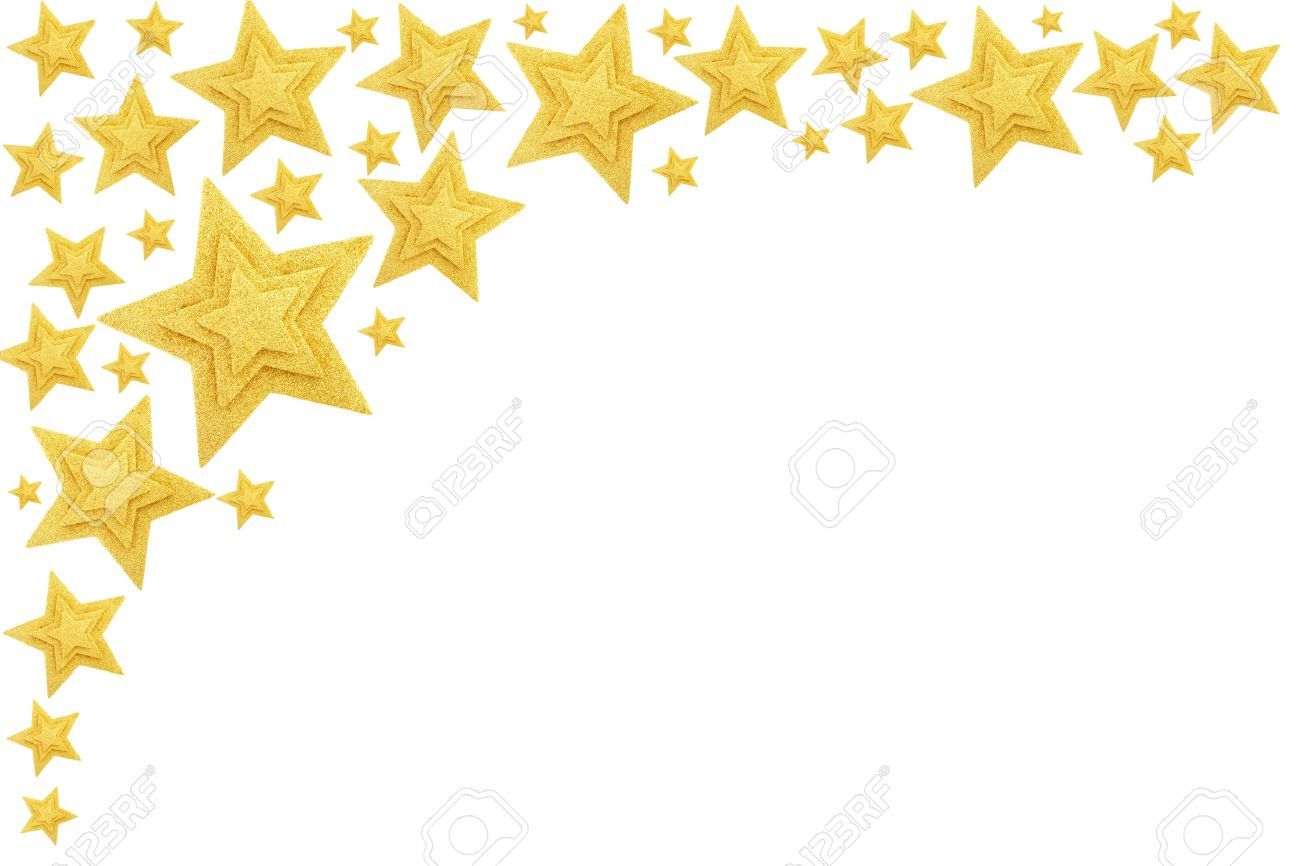 gold stars border isolated on white stock photo picture and royalty
