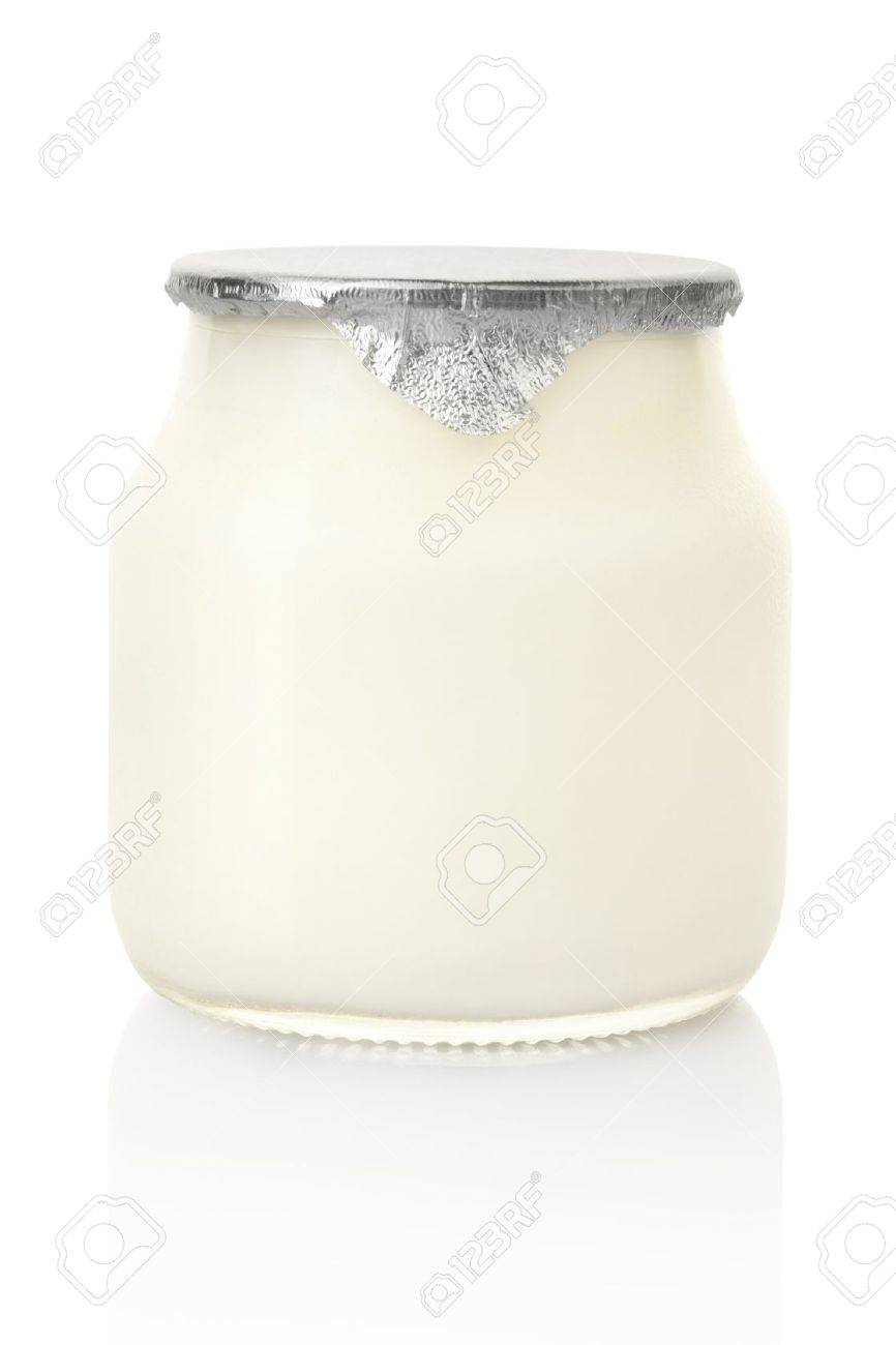 Yogurt jar isolated - 9991135