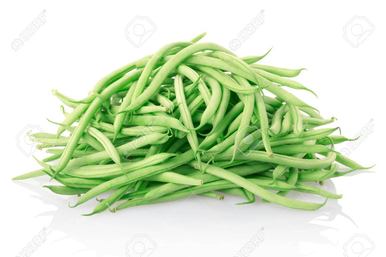 Green beans isolated on white. Stock Photo - 10775766