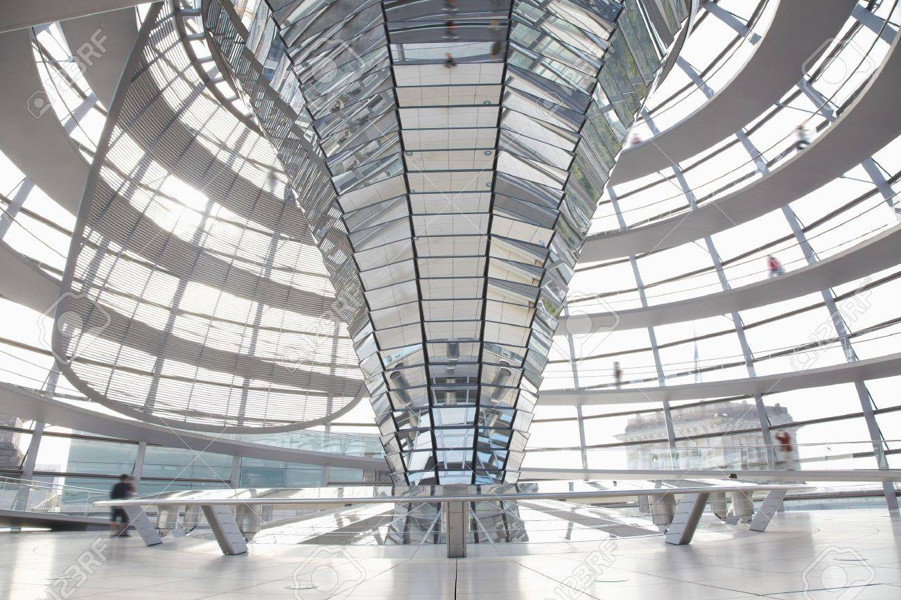 Modern Architecture Berlin reichstag dome, berlin modern architecture stock photo, picture
