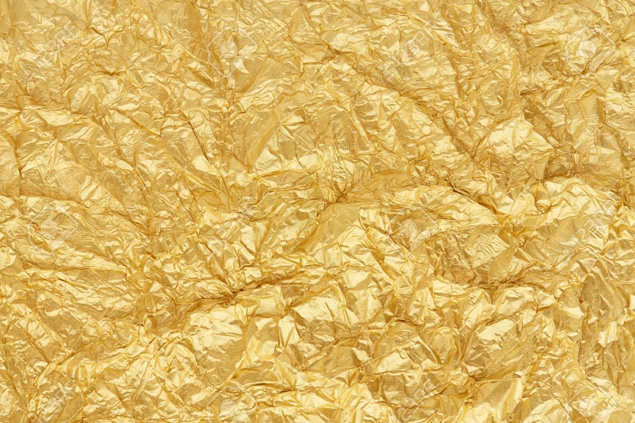 Gold Foil Seamless Background Texture Stock Photo, Picture And ...