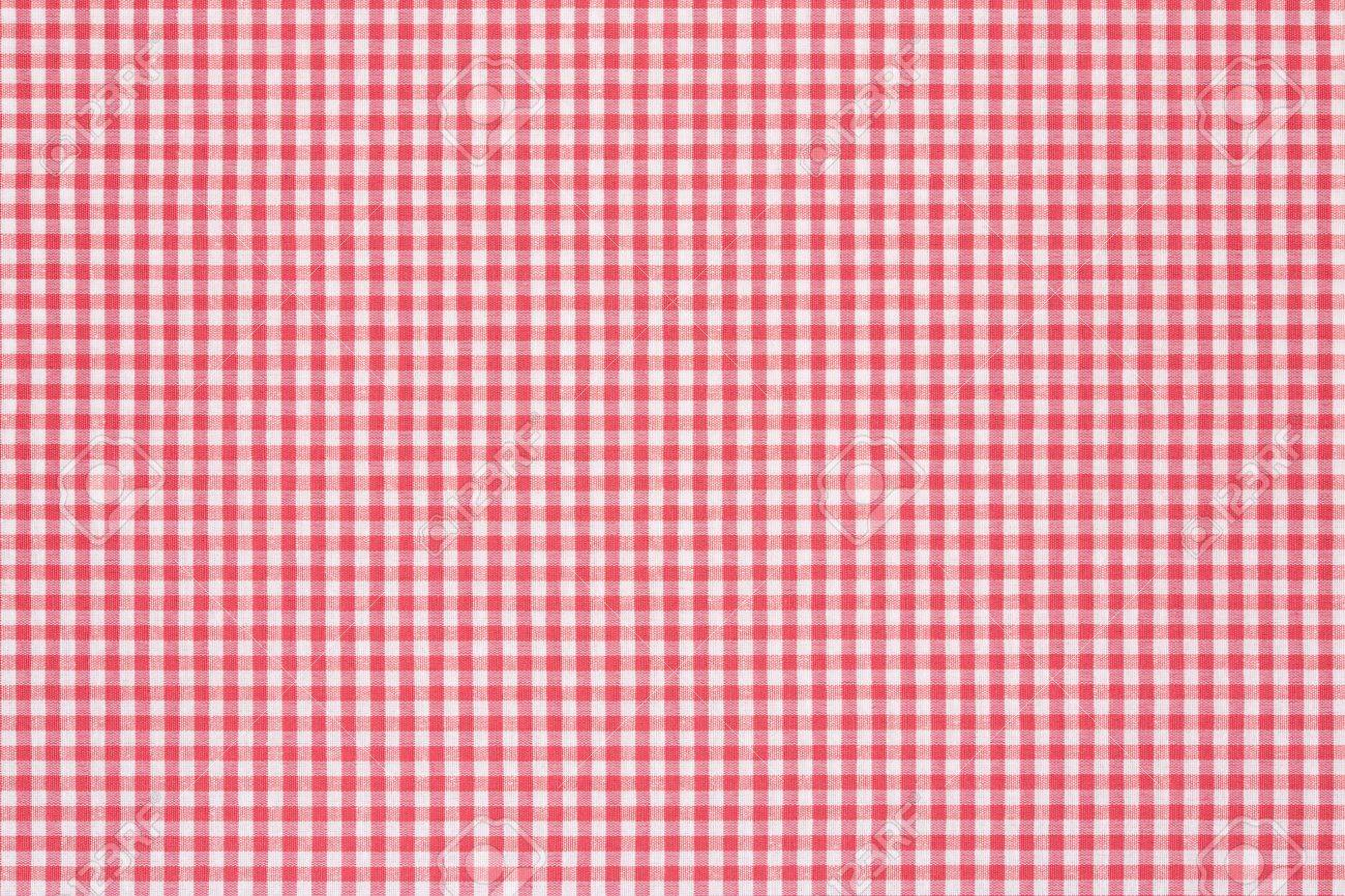 Ordinaire Red And White Gingham Tablecloth Texture Background Stock Photo   20200319